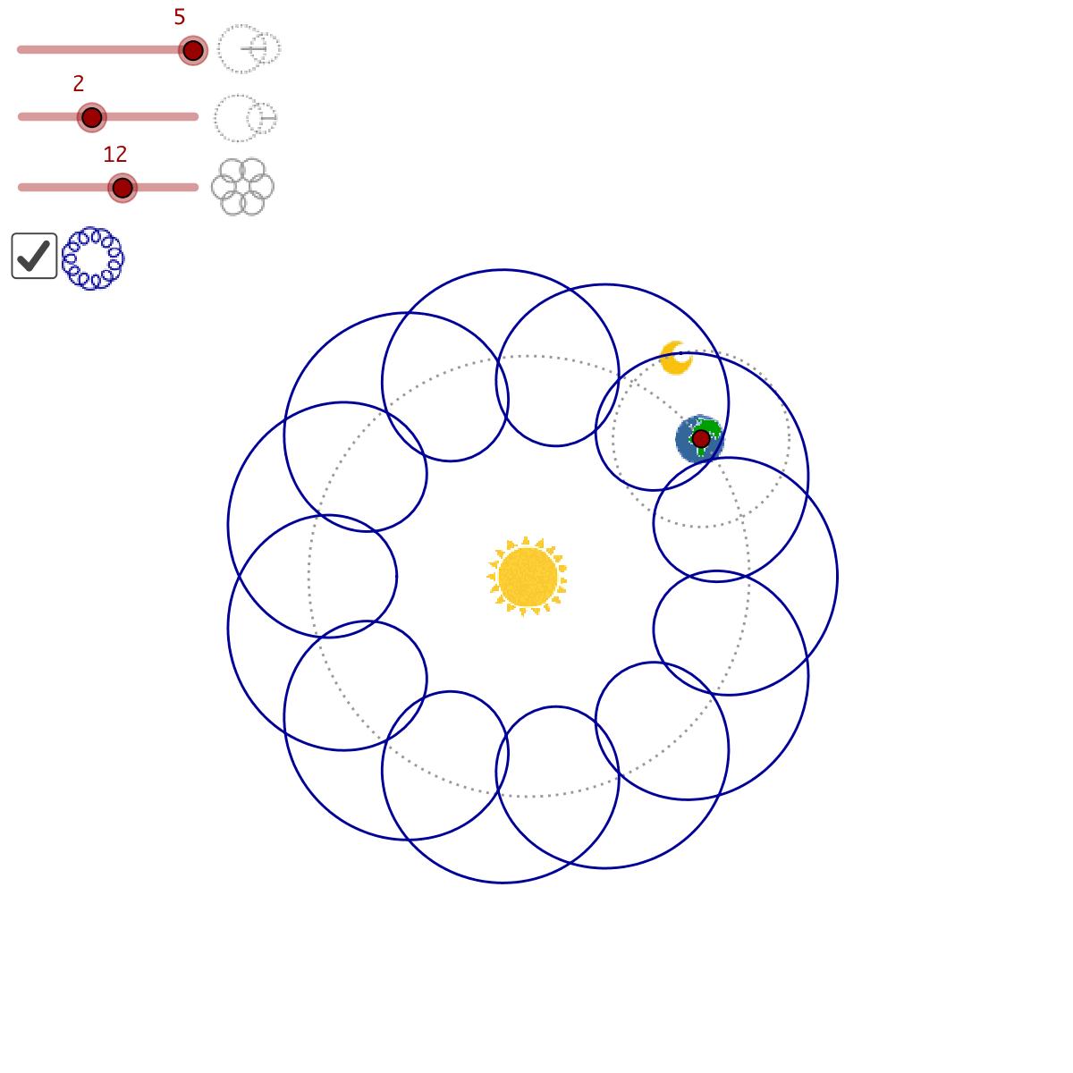 Geometry - Sun, earth and moon
